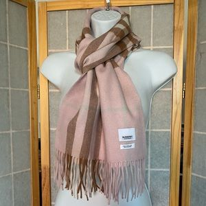 Auth Burberry Giant Check Cashmere Scarf Pink